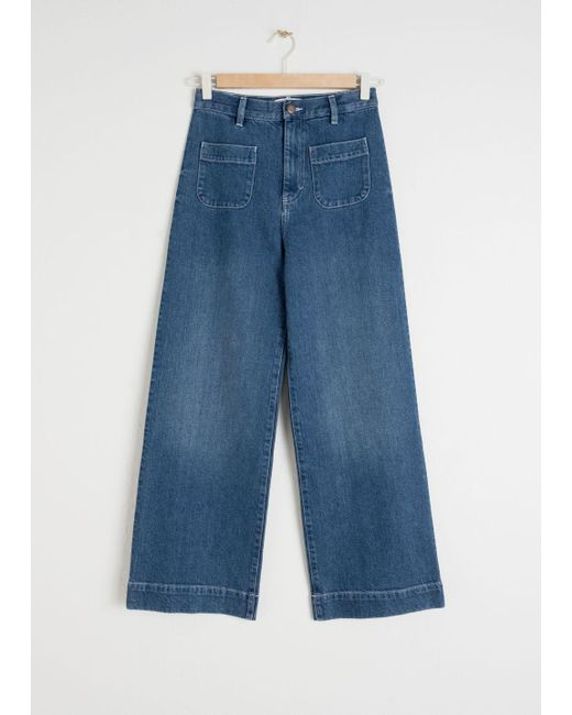 Women S Blue Semi Stretch Workwear Jeans