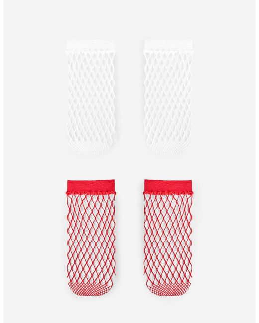Stradivarius | Red Set Of 2 Pairs Of Mesh Socks | Lyst