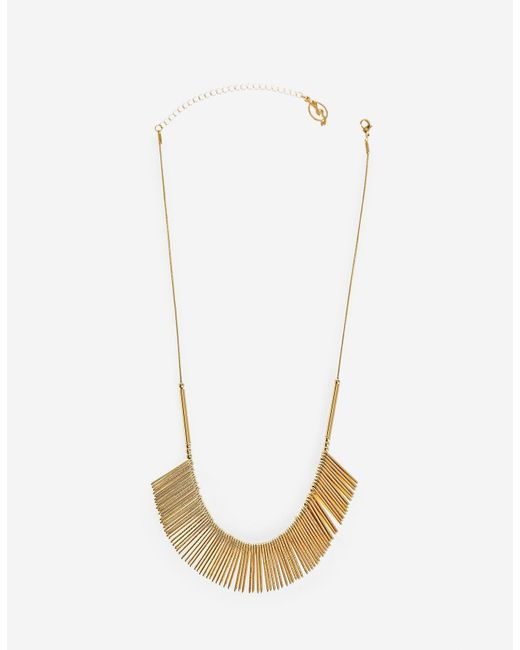 Stradivarius | Yellow Necklace With Thin Rod Charms | Lyst