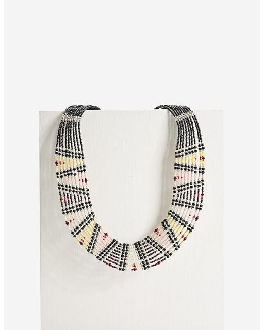 Stradivarius   Yellow Necklace With Thin Beads   Lyst