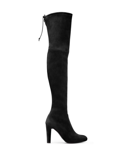 Stuart Weitzman - Black Highland Stretch-Suede Over-The-Knee Boots - Lyst