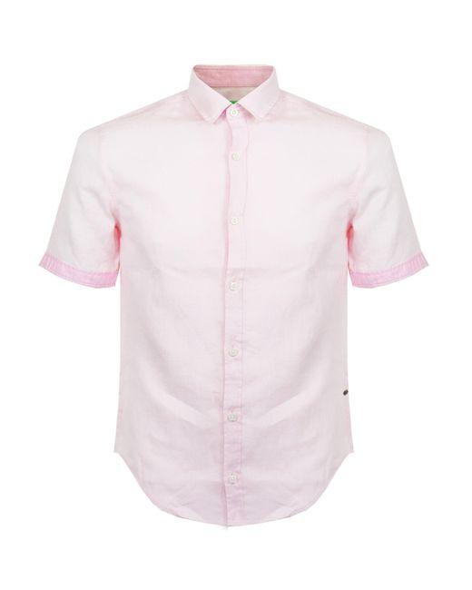 BOSS Green | C-barbuino Pink Shirt for Men | Lyst
