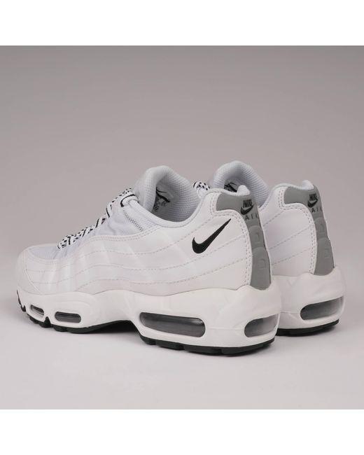 28fe79996c4c7 Nike Air Max 95 - White   Black in White for Men - Lyst
