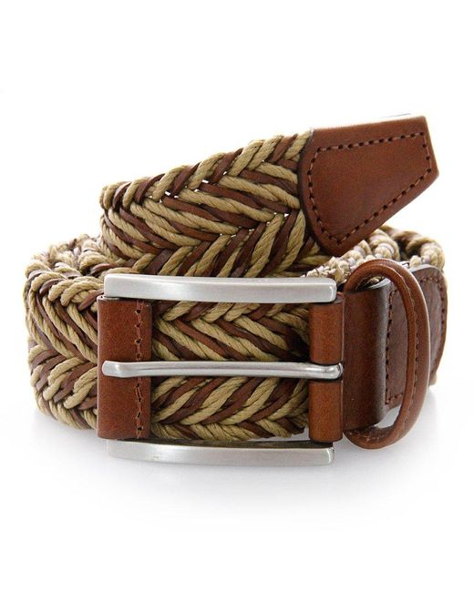 Andersons | Anderson Belts Twine Braided Sand Brown Belt for Men | Lyst