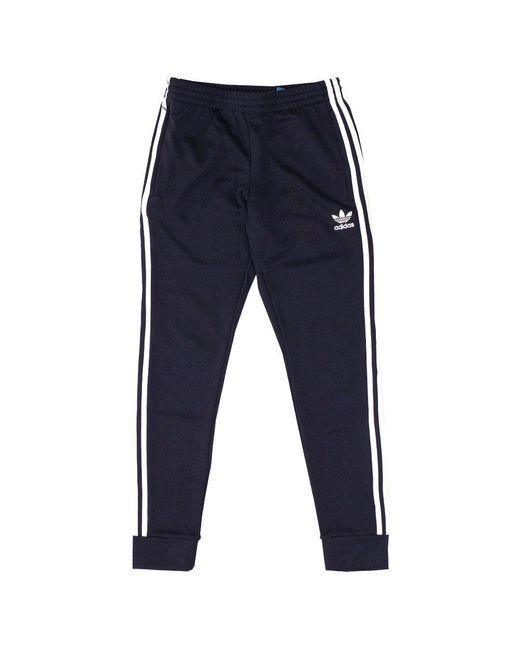 Adidas Originals | Blue Superstar Cuffed Legend Ink Track Pants for Men | Lyst