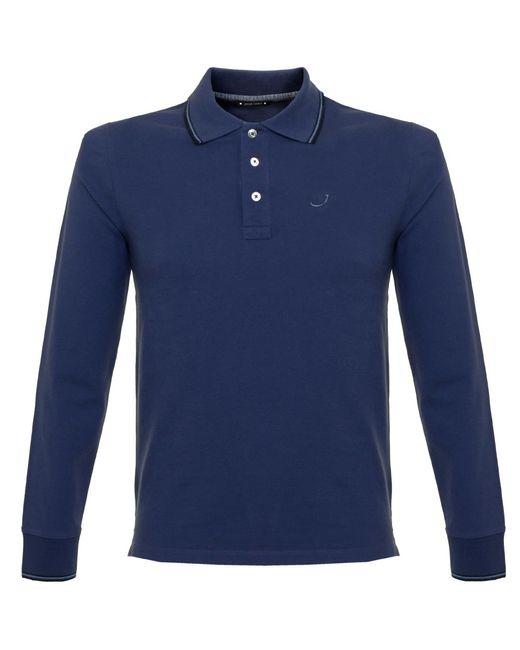 Jacob cohen j494 cobalt blue polo shirt in blue for men for Cobalt blue polo shirt