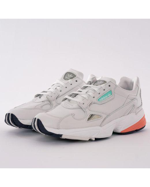 buy online b97a3 a4cc2 Adidas Originals - Womens Falcon - White   Orange for Men ...