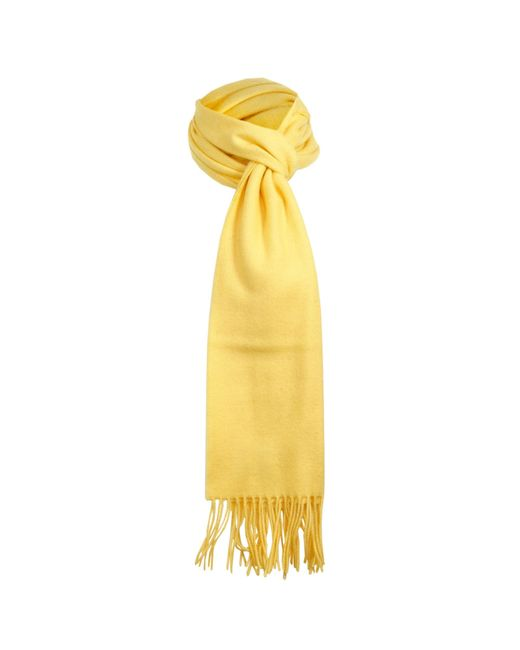 Dents | Yellow Lambswool Scarf | Lyst