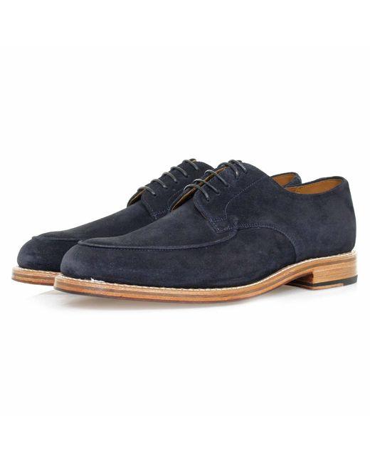 GRENSON   Blue Dean Navy Suede Shoe for Men   Lyst