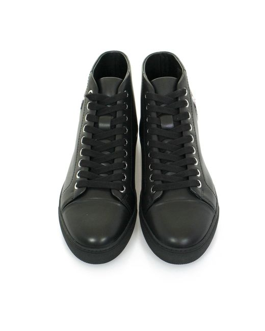 Versus Versace Lion Head Hi Top Black Shoe in Black for ...