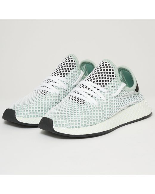 lyst adidas originali deerupt runner w ash green in verde