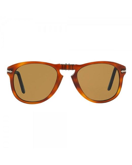 5a067725f41c4 ... Persol - 714 Foldable Brown Sunglasses 0po0714 52  for Men - Lyst ...