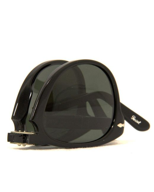 868876e29b Lyst - Persol 714 Foldable Sunglasses- Black   Grey in Black for Men