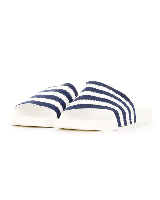 outlet store 15135 88b9a Adidas Originals - Adilette Slides - Collegiate Navy, Ftw White   Off White  for Men ...