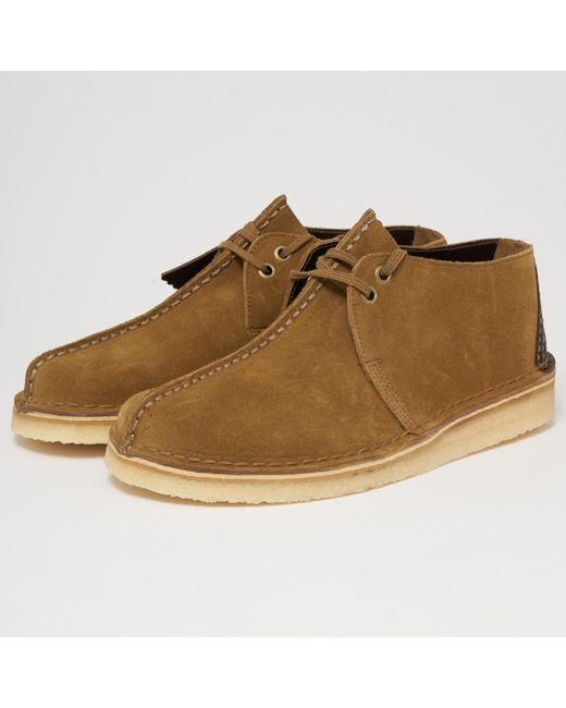 22623fa2eec42b Clarks - Green Desert Trek Suede Shoe - Olive for Men - Lyst ...