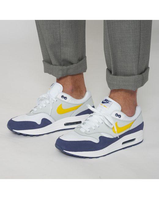 nike air max 1 white yellow blue