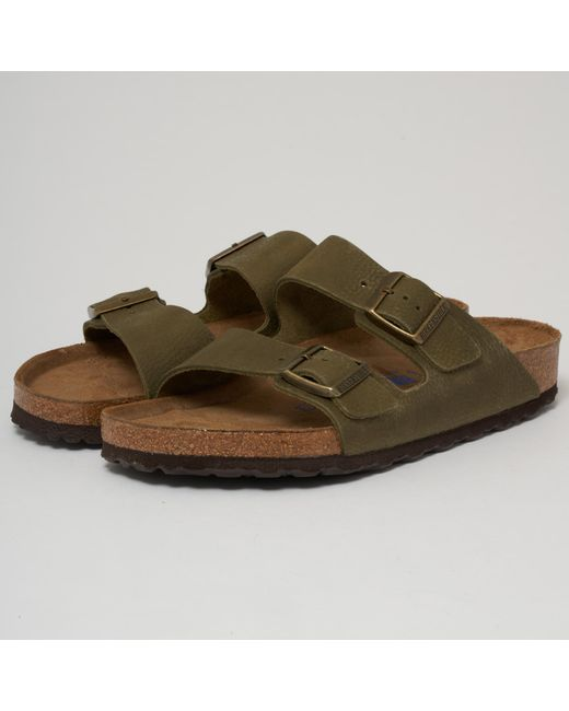 e250039ea8f5 Birkenstock - Natural Arizona Sandals - Steer Khaki for Men - Lyst ...