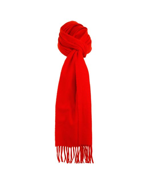 Dents - Red Berry Lambswool Scarf - Lyst