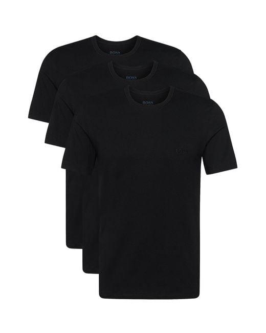 BOSS - Black Cotton Classic Crew Neck T-shirt - for Men - Lyst