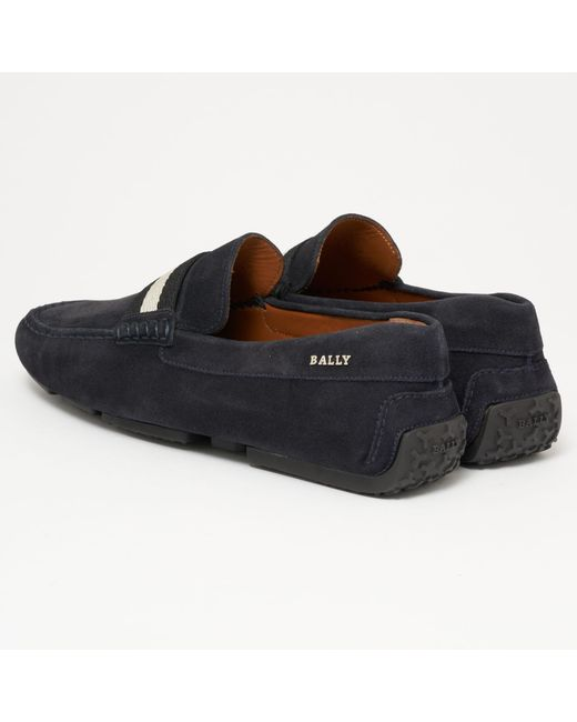 6b6bd2b1c97 ... Bally - Pearce Suede Driver - Blue Navy for Men - Lyst ...