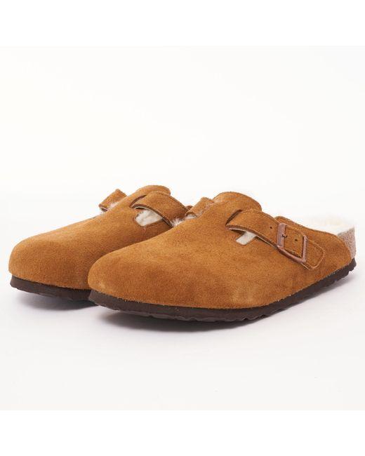Birkenstock - Brown Boston Fur Clog - Mink for Men - Lyst