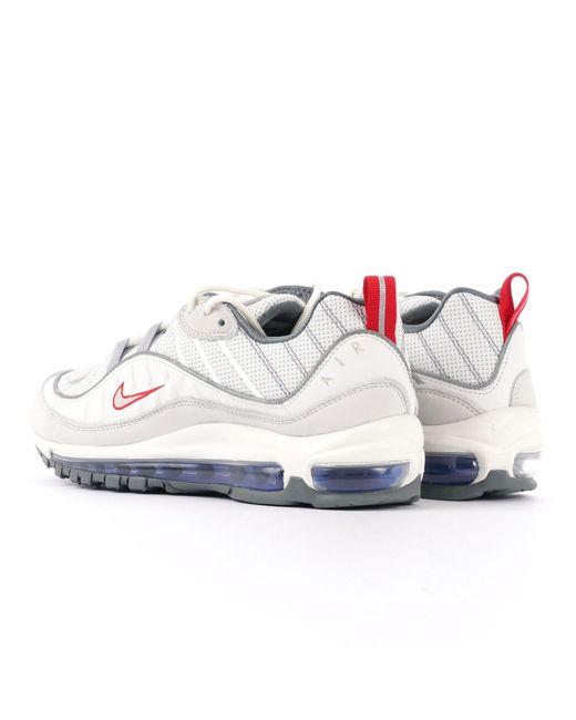 4fc27903204e14 Lyst - Nike Air Max 98 - Summit White   Metallic Silver in White for Men