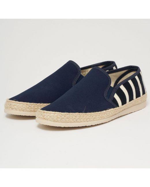 599a5881986 Armor Lux - Blue Striped Canvas Espadrilles - Navy   Natural for Men - Lyst  ...