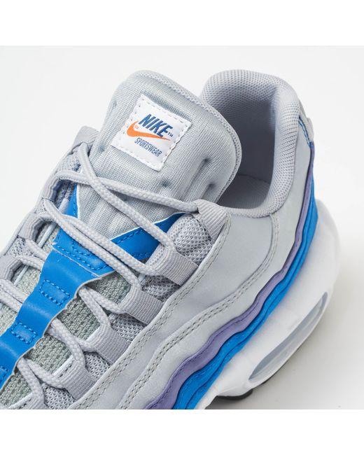 e9b74c54d9ea Lyst - Nike Air Max 95 Se - Wolf Grey   Blue Nebula in Gray for Men