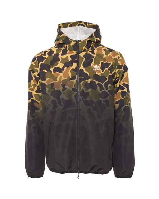 lyst adidas originals camouflage windbreaker jacket for men. Black Bedroom Furniture Sets. Home Design Ideas