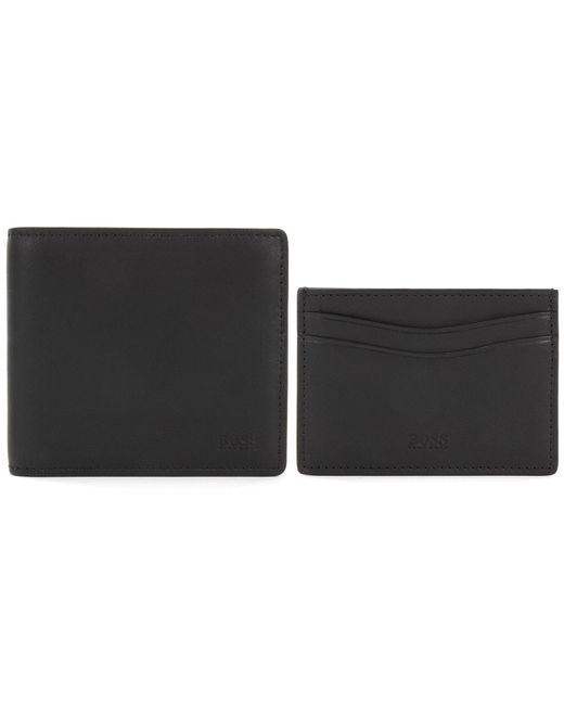 3e6fcdb763a Lyst - BOSS Black Bifold Wallet   Cardholder Gift Set in Black for Men