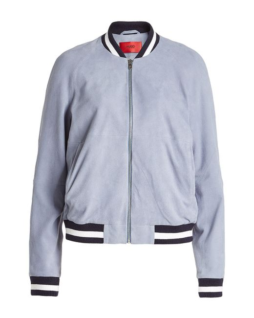 HUGO   Multicolor Leather Jacket   Lyst