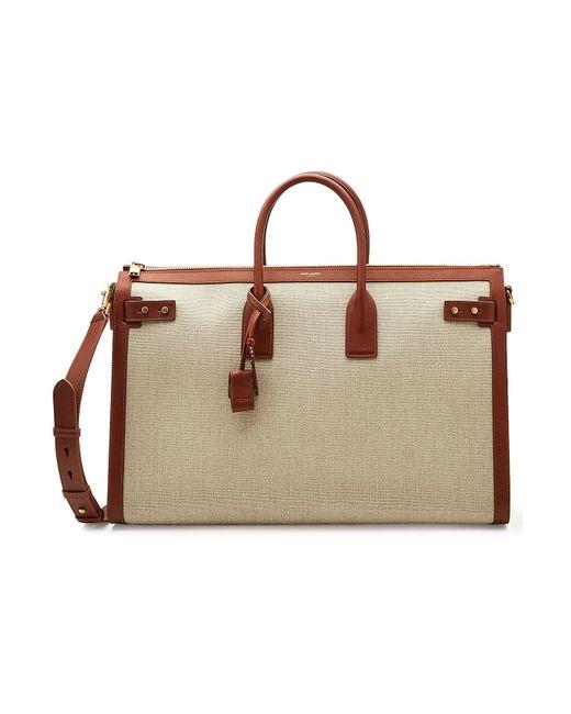 Saint Laurent - Multicolor Classic Linen Bag With Leather for Men - Lyst