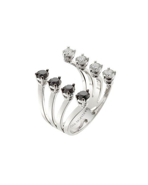 Delfina Delettrez | 18kt White Gold Ring With White And Black Diamonds | Lyst