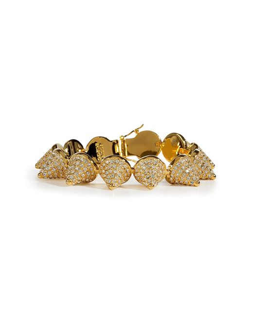 Eddie Borgo | Metallic Gold Crystal Encrusted Pave Cone Crystal Bracelet | Lyst