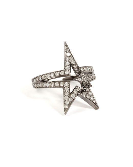 Nikos Koulis | 18k Black Rhodium Fontana Ring With White Diamonds | Lyst