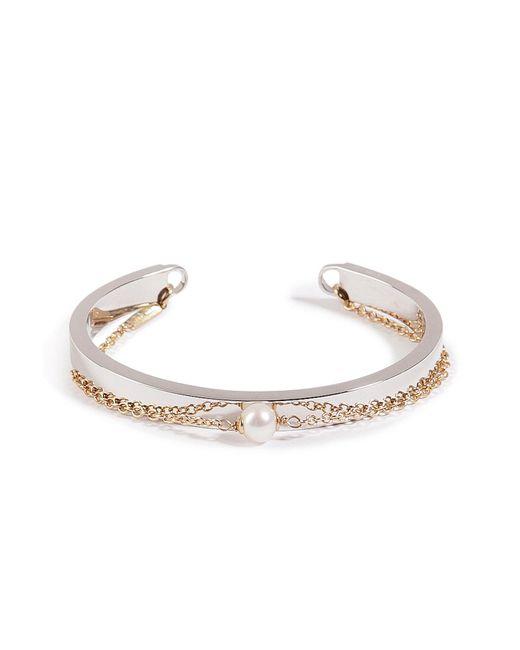 Delfina Delettrez | Metallic Silver/gold Two In One Bracelet | Lyst