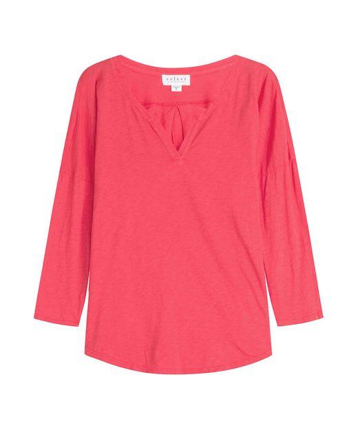 Velvet - Pink Cotton Top - Lyst