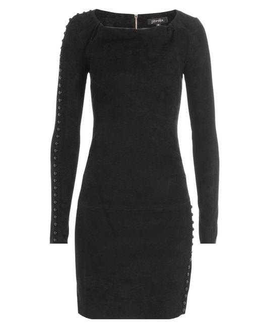 Jitrois - Black Suede Mini Dress - Lyst