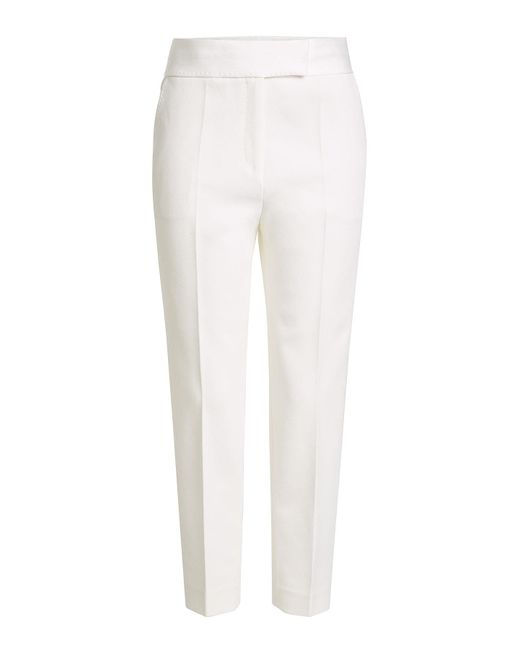 By Malene Birger - White Crepe Pants - Lyst