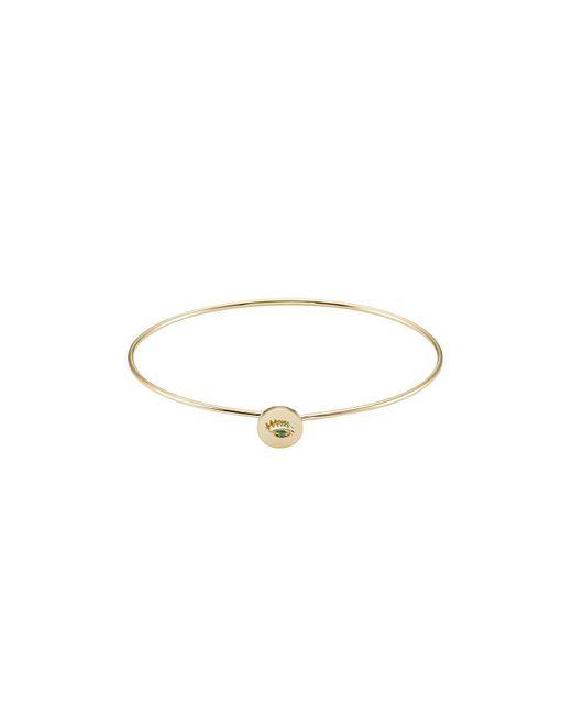 Delfina Delettrez - 18kt Yellow Gold Bracelet With Emerald - Lyst