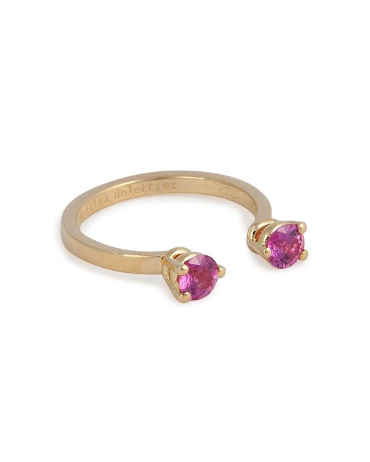 Delfina Delettrez | 18kt Yellow Gold Ring With Sapphires | Lyst
