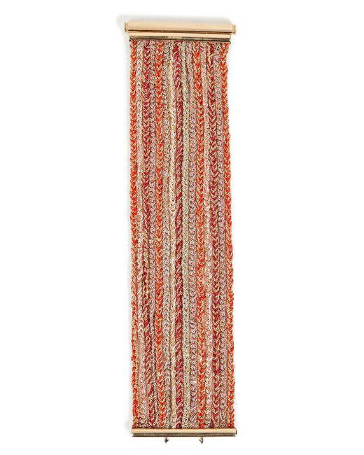 Carolina Bucci | Metallic 18k Gold/silk 15 Strand Lucky Bracelet In Red | Lyst