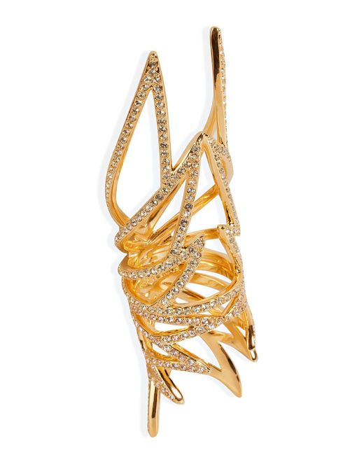 Eddie Borgo   Metallic Gold-plated Pave Wing Ring   Lyst