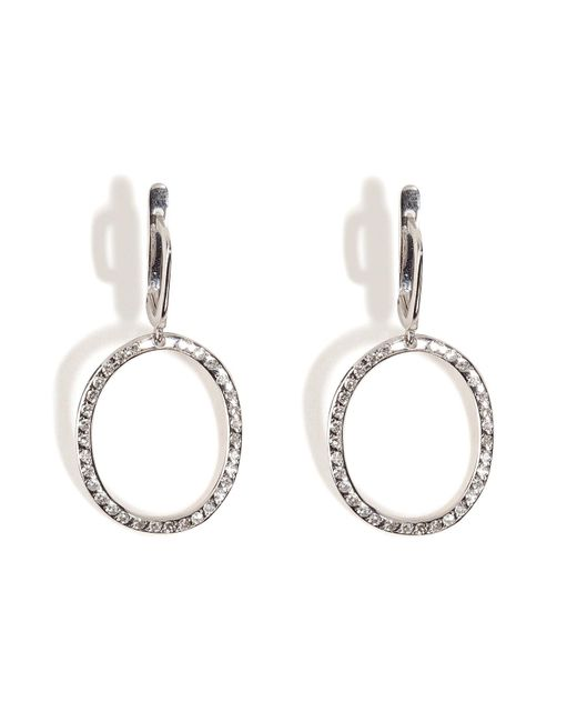 Ileana Makri | 18kt White Gold Again Single Earrings With White Diamonds | Lyst