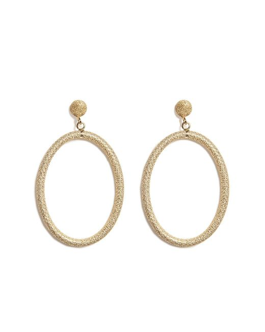 Carolina Bucci | Metallic 18k Gold Gitane Sparkly Oval Earrings | Lyst