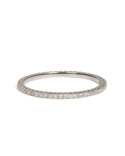 Carolina Bucci | 18k White Gold Pave Stacking Ring With Diamonds | Lyst
