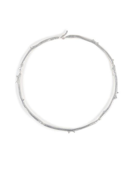 Aurelie Bidermann | Metallic Silver Rosebud Necklace | Lyst