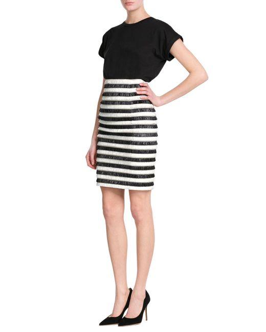 Balmain | White Fringe Skirt | Lyst
