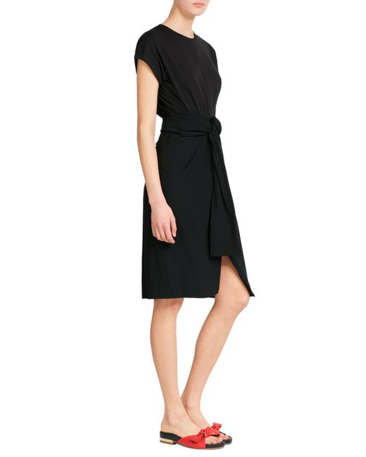 J.W. Anderson   Black Crepe Skirt With Knot Detail   Lyst