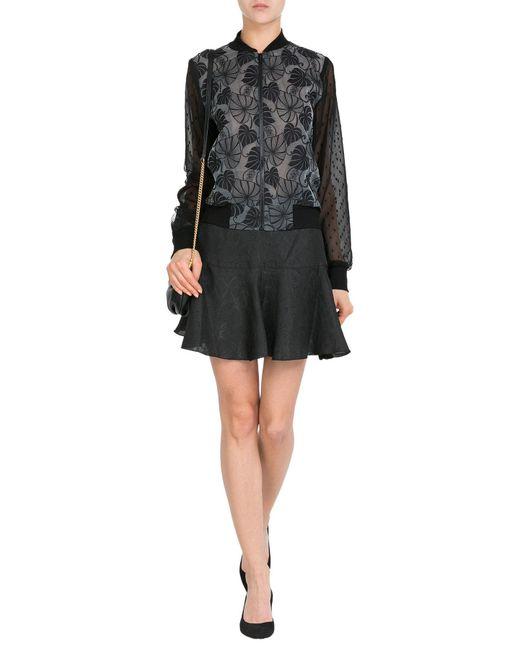Anna Sui | Black Jacquard Skirt | Lyst